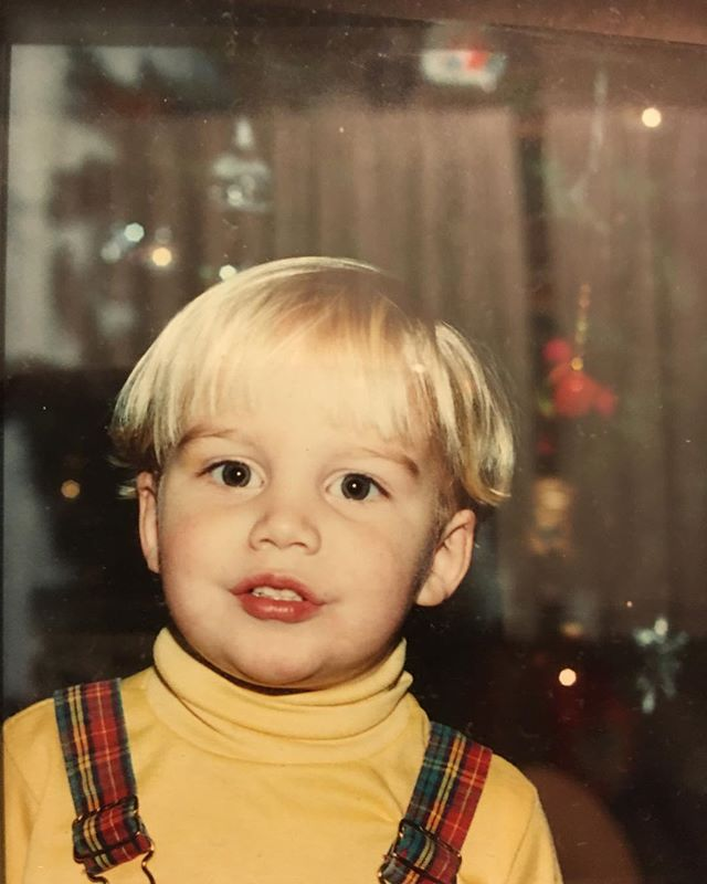 Plaid overalls, yellow turtle neck hell why not #tbt