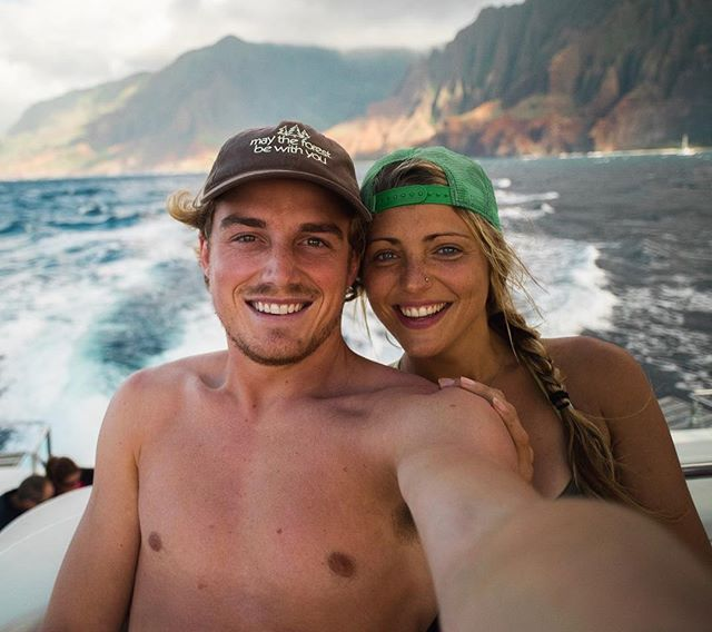 Catamaran to the Nā Pali Coast @aubrey.garner everything is better with you #napalicoast #hawaii #neverstopexploring #stayandwander #roamtheplanet