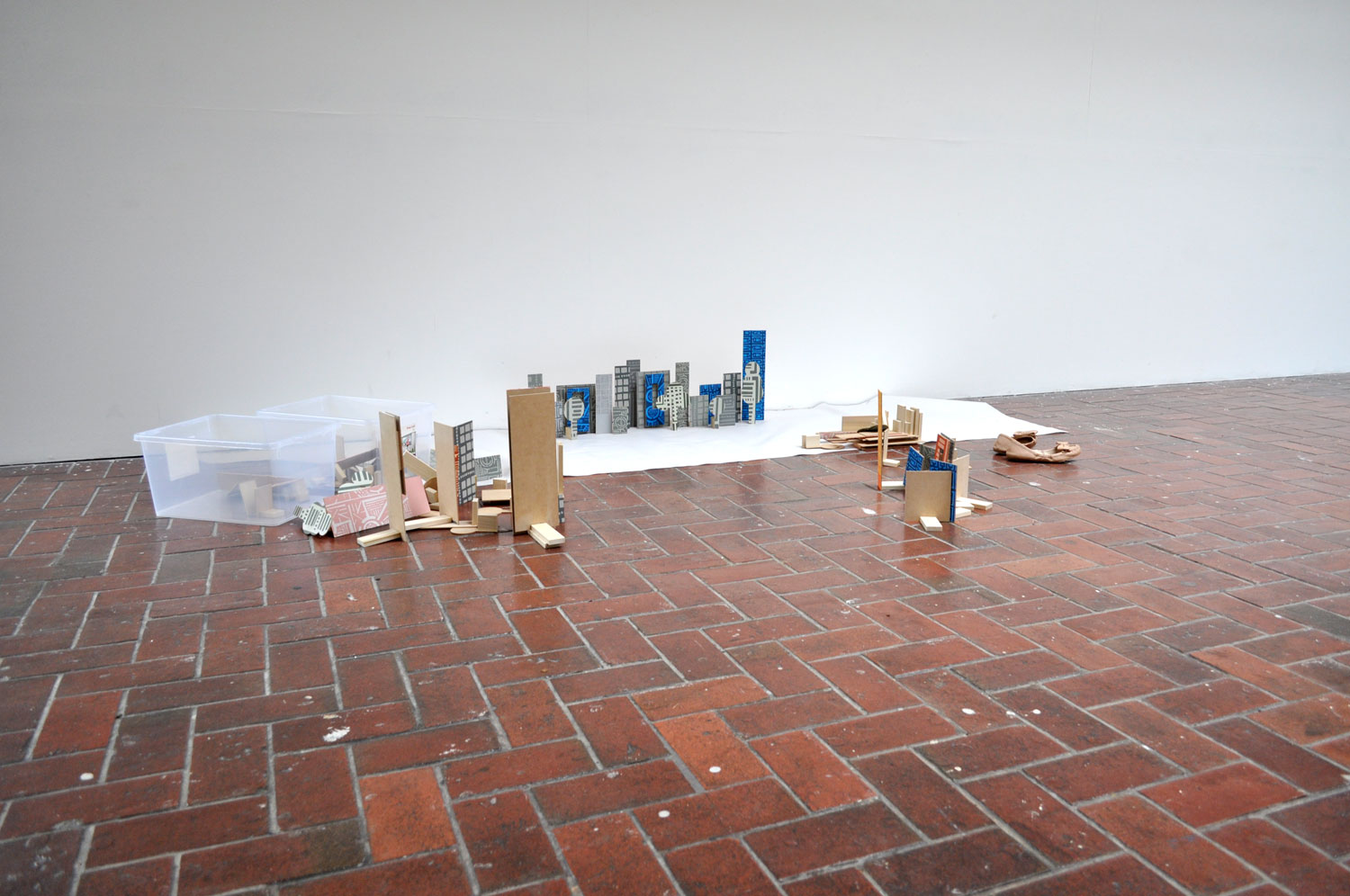 Marcus Clarke and roundabouts, 2012, Permaset on MDF, dimensions variable