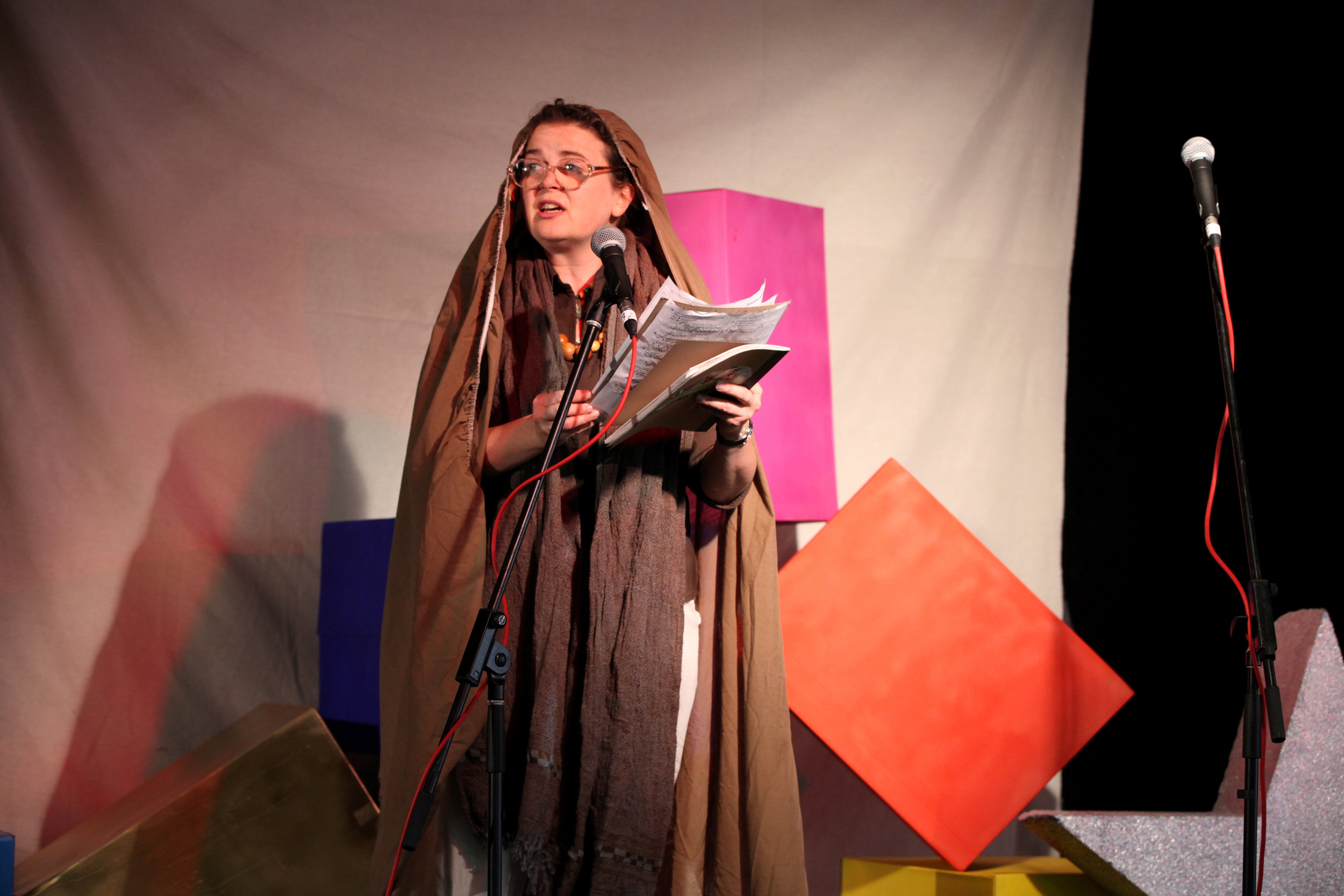 Performance by Australia's foremost feminist poet (and a Noted favourite) Beige Brown. Image: Erica Hurrell.
