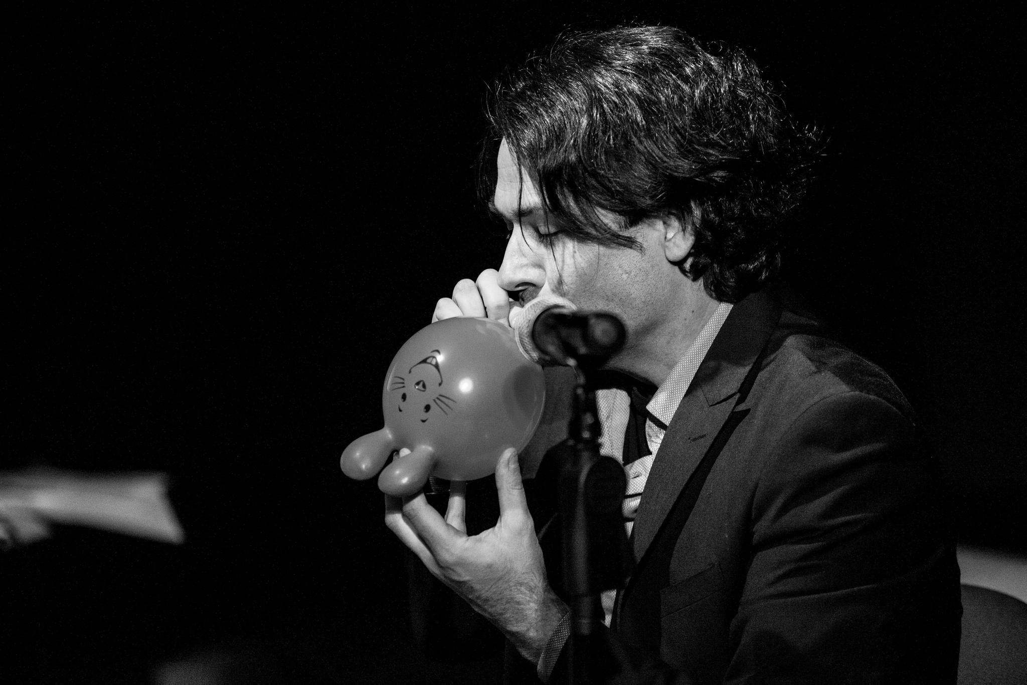 Jordan Morris performing at Words on Wire shot by Adam Thomas.