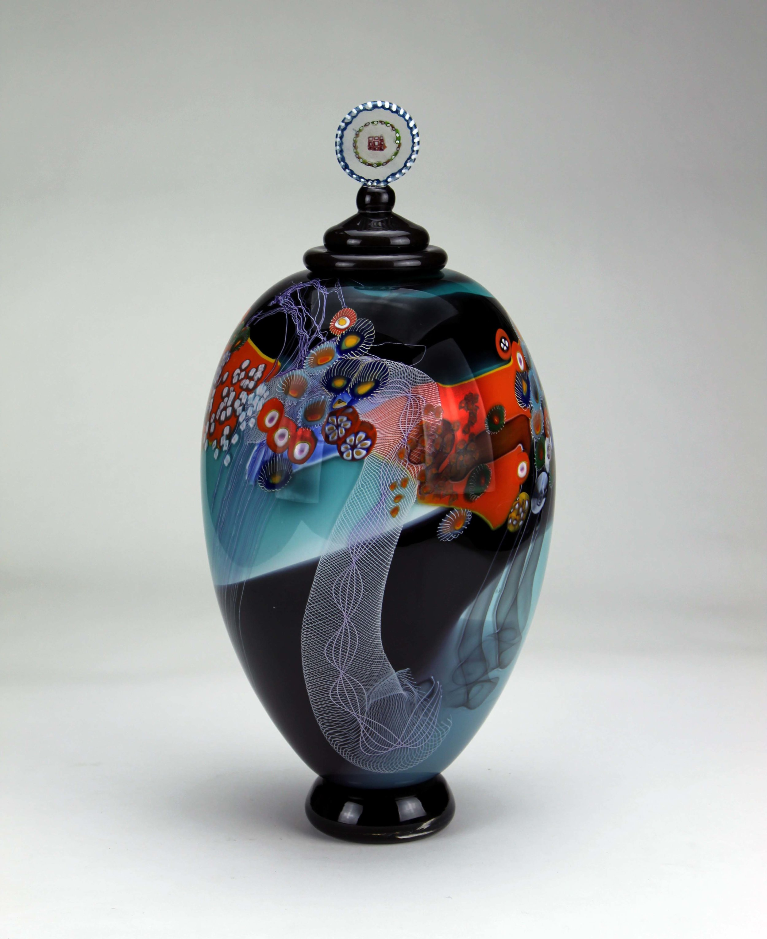 Colorfield Jar   Tradition Lidded forms.
