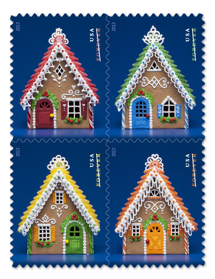 USPS 2013 Gingerbread Stamps