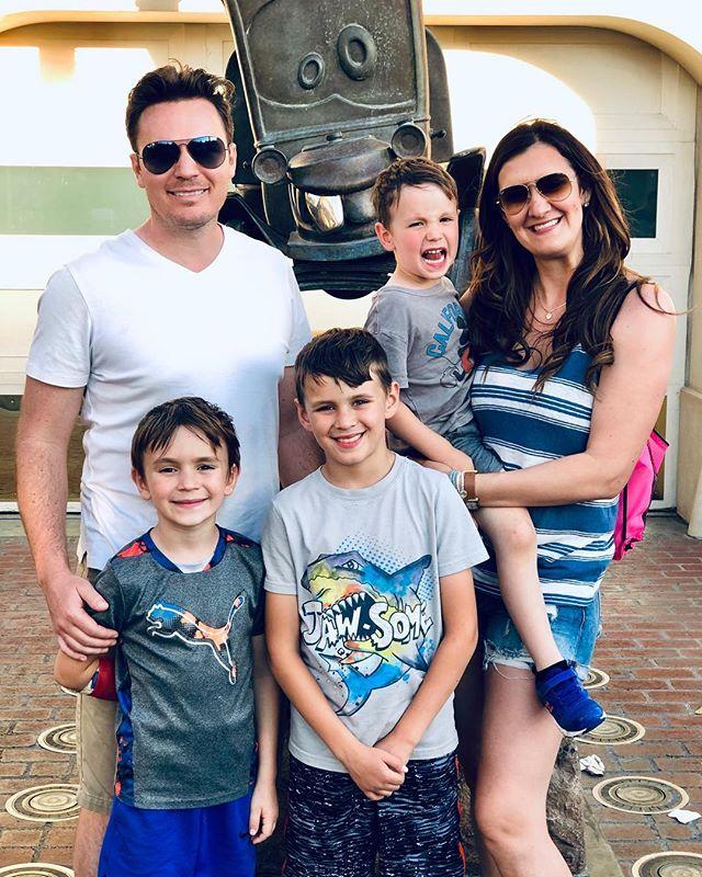 Fun times celebrating kiddos birthdays at #Disneyland.  Thanks @christenoconnell  for raising 4 amazing sons.