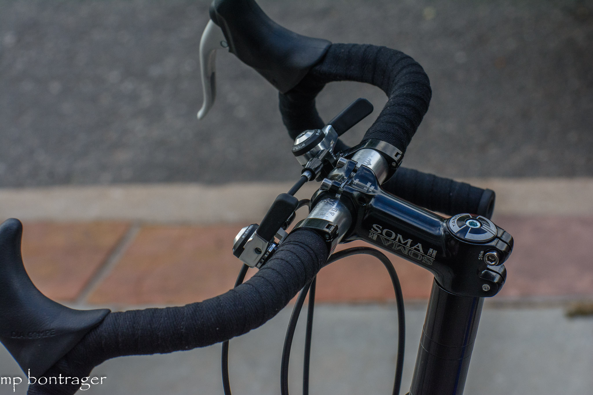 IRD thumb shifters, tange headset, Soma stem
