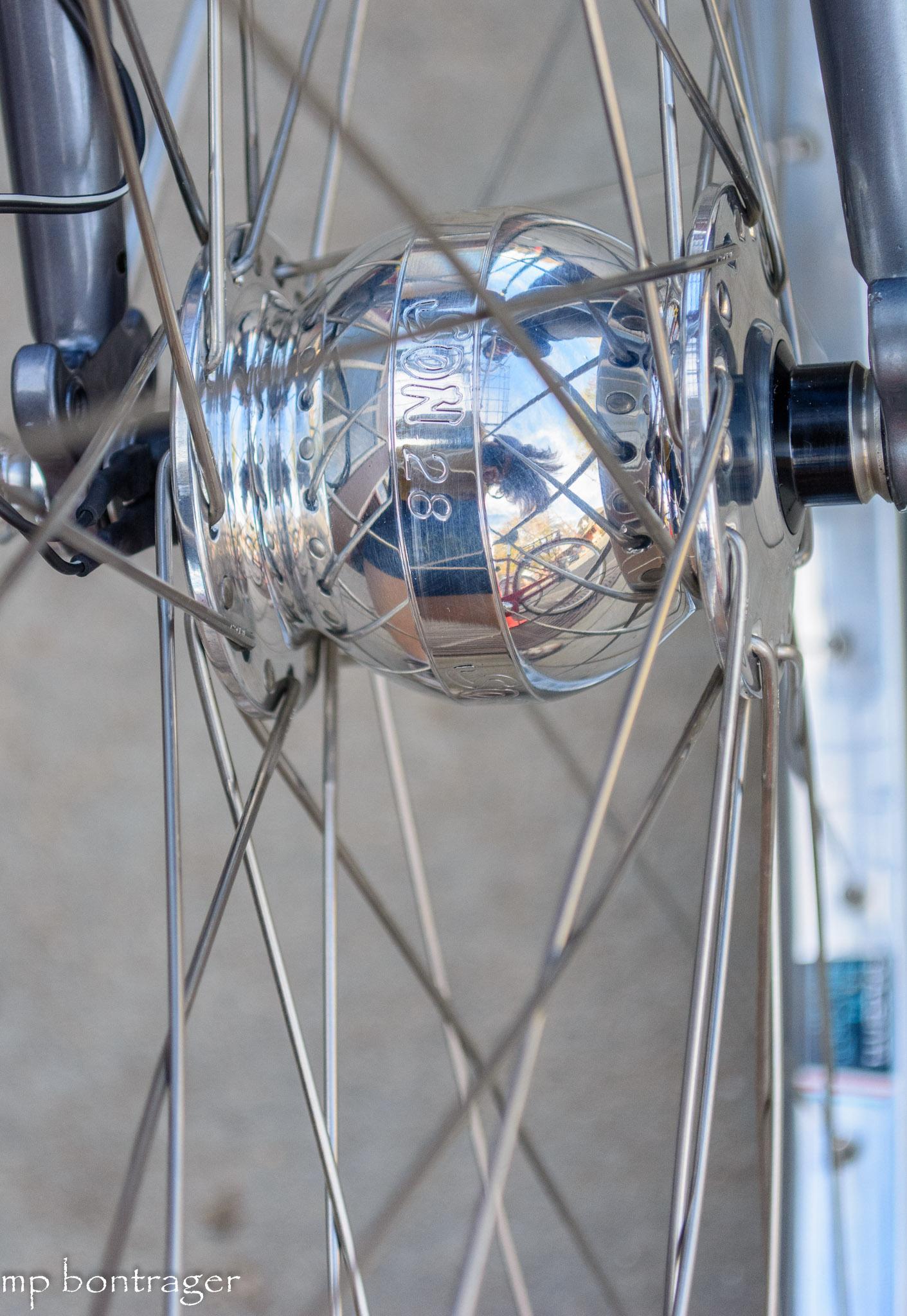 Schmidt hub in bespoke wheel set will power LED light system