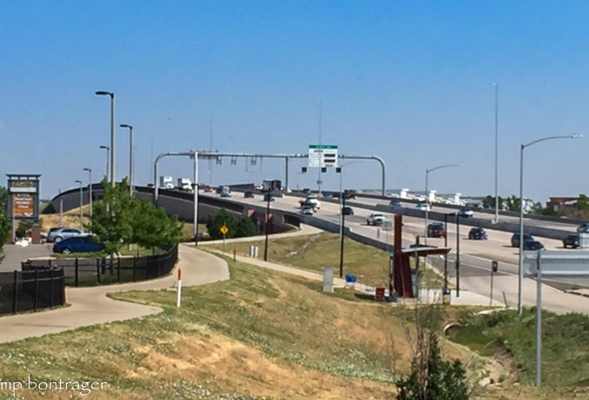 busy interchange the Bikeway traverses