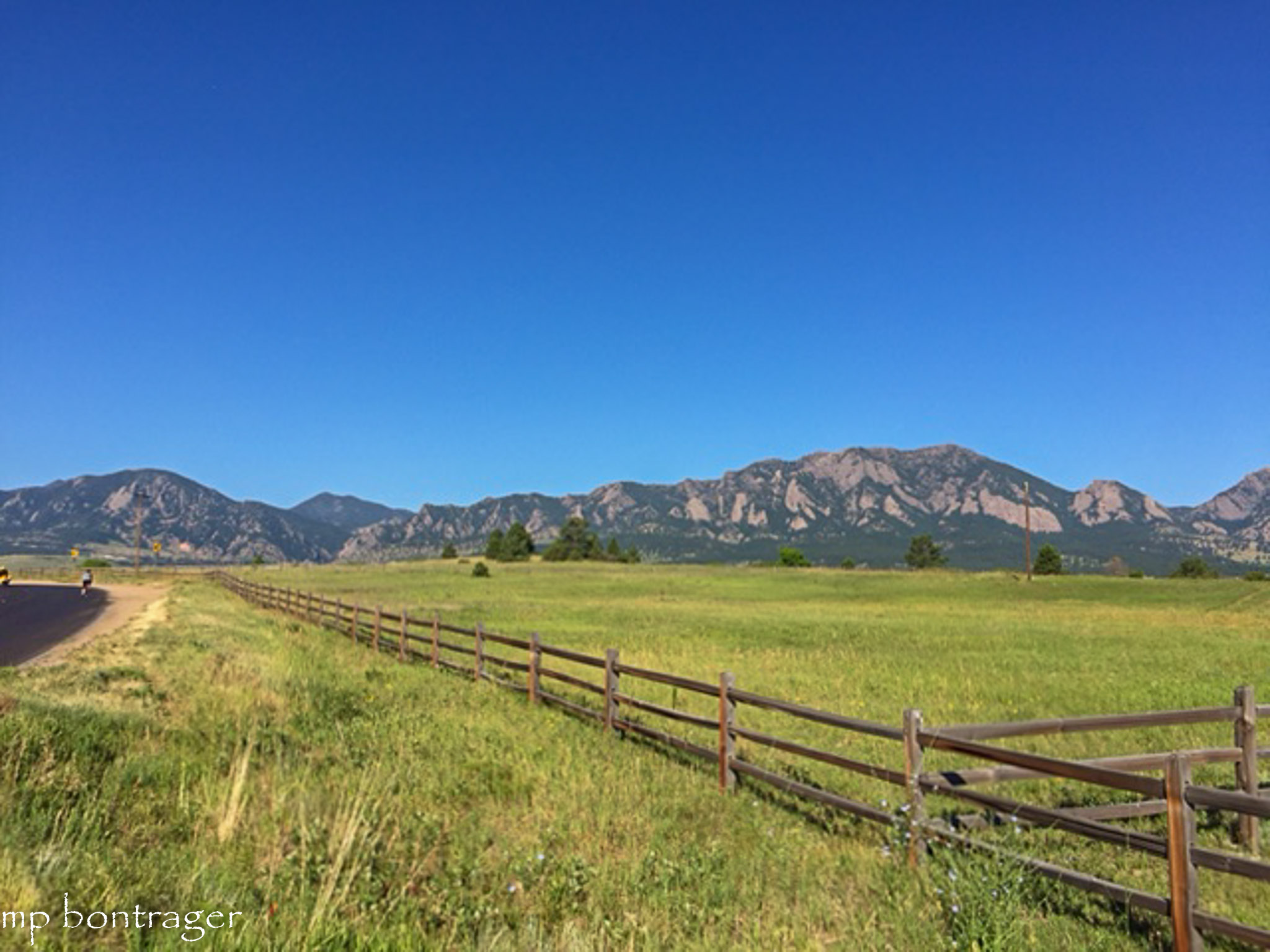 Flatirons from Cherryvale Road, Boulder County.