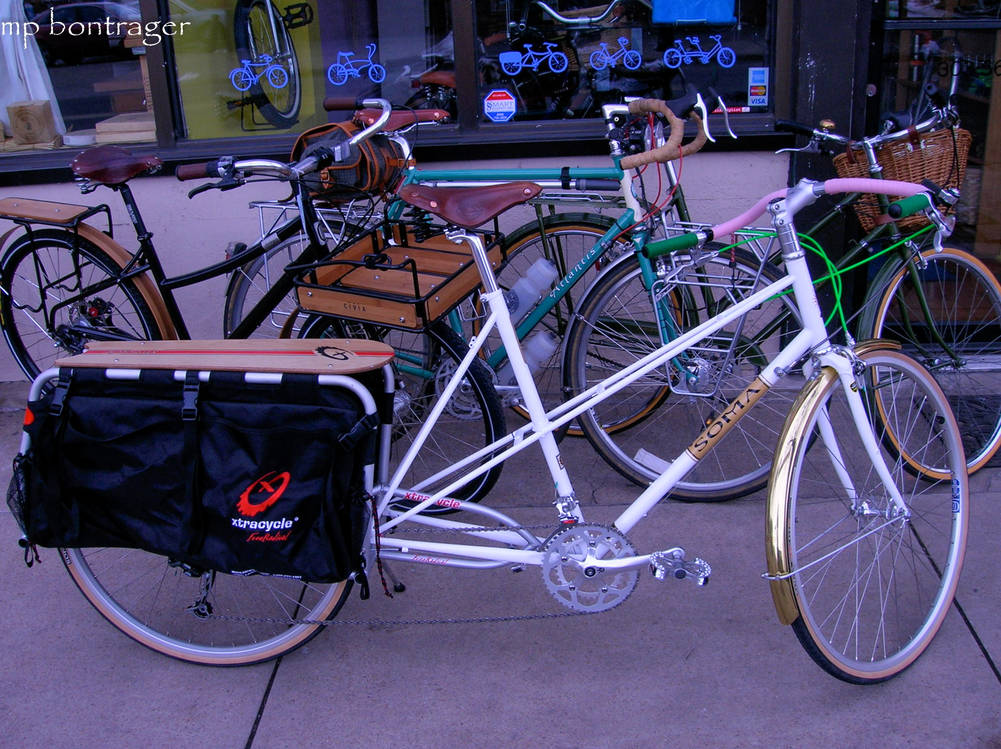 Xtracycle Long Tail kit on a mixte