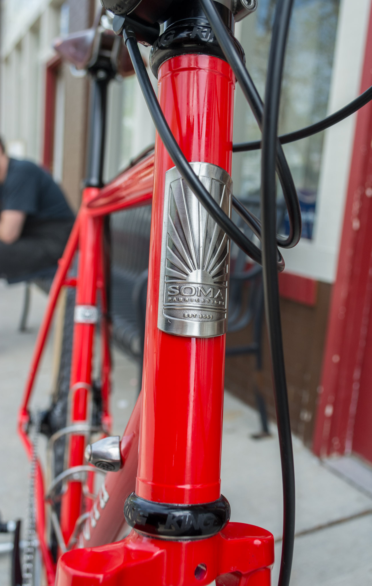 Responsive ChroMoly frame by Soma Fabrications and fork, Chris King head set
