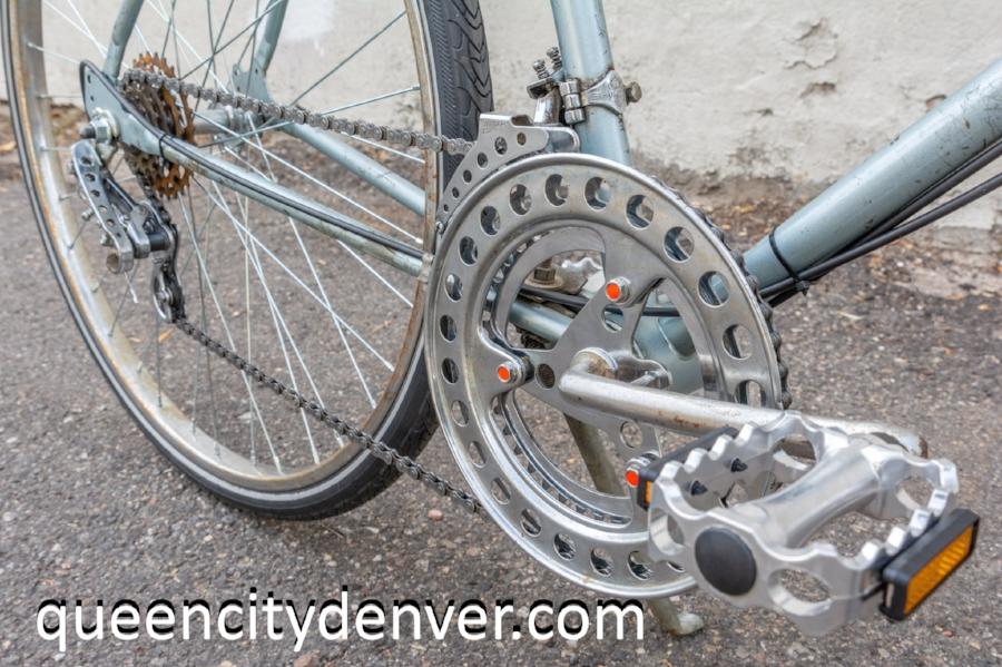 vintage bike, vintage chain ring size