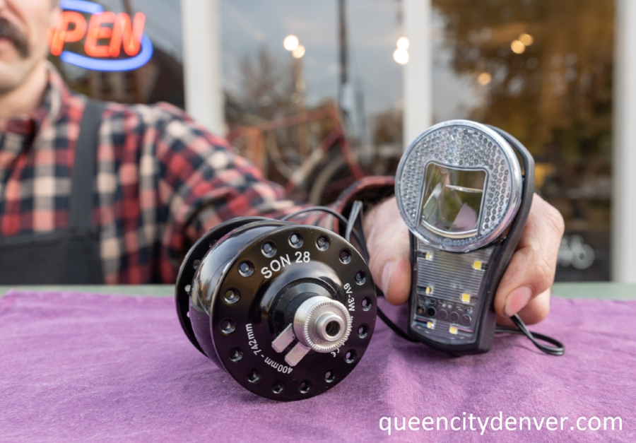 Schmidt's SON dynamo hub and Busch+Muller head light