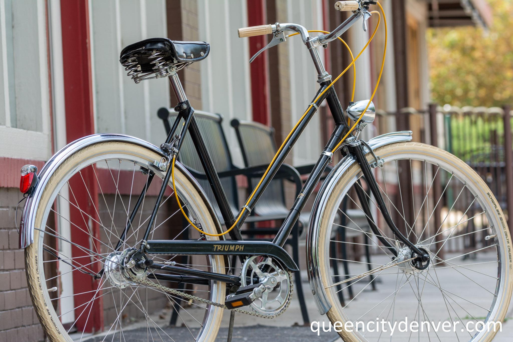 Triumph bike manufactured in England