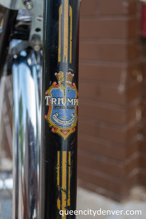 Triumph English bicycle