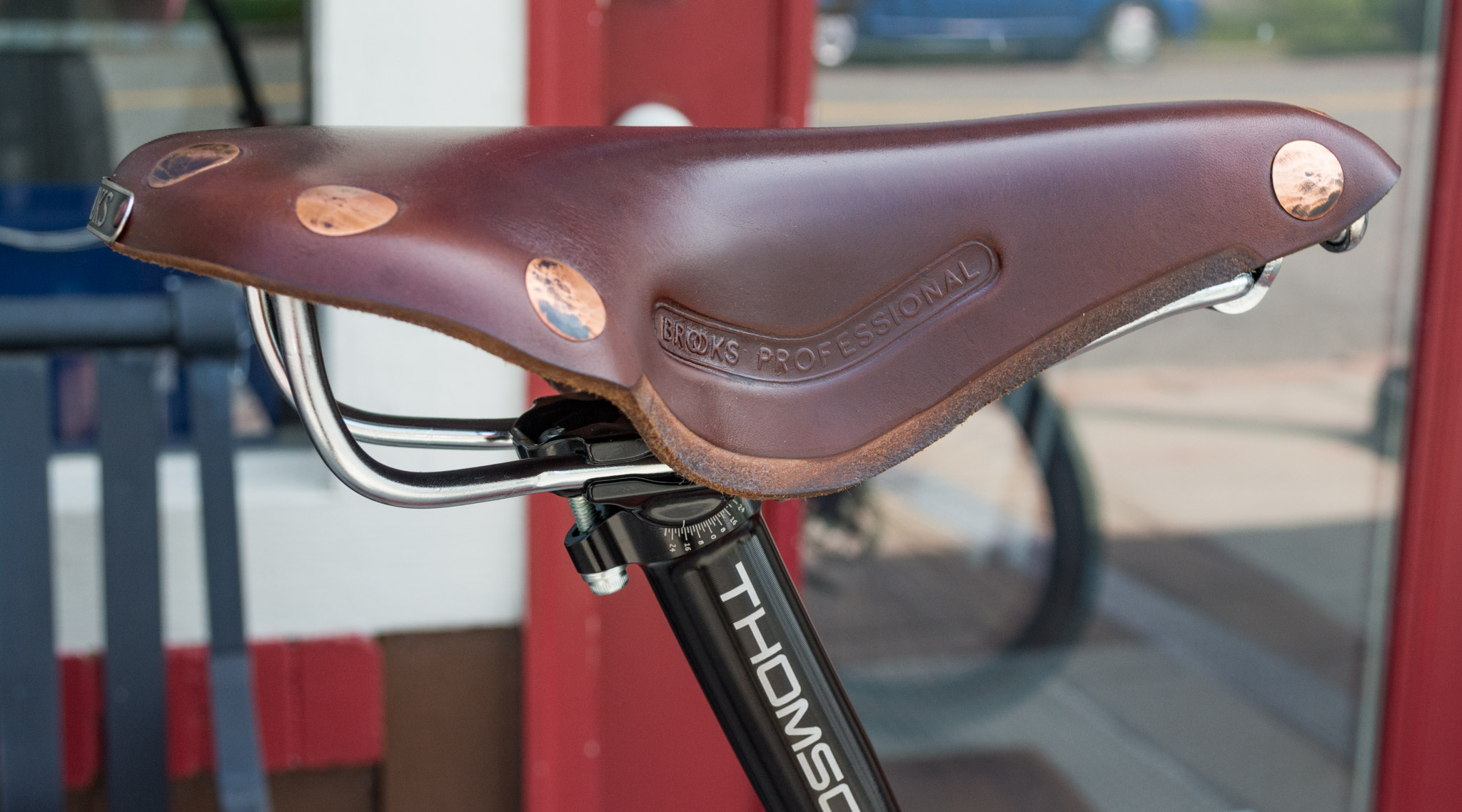 Brooks Professional Leather Saddle with copper rivets