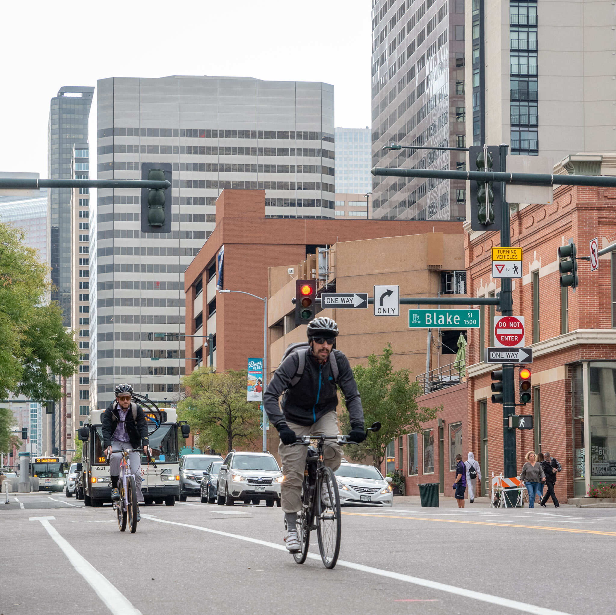 commuting in Downtown Denver