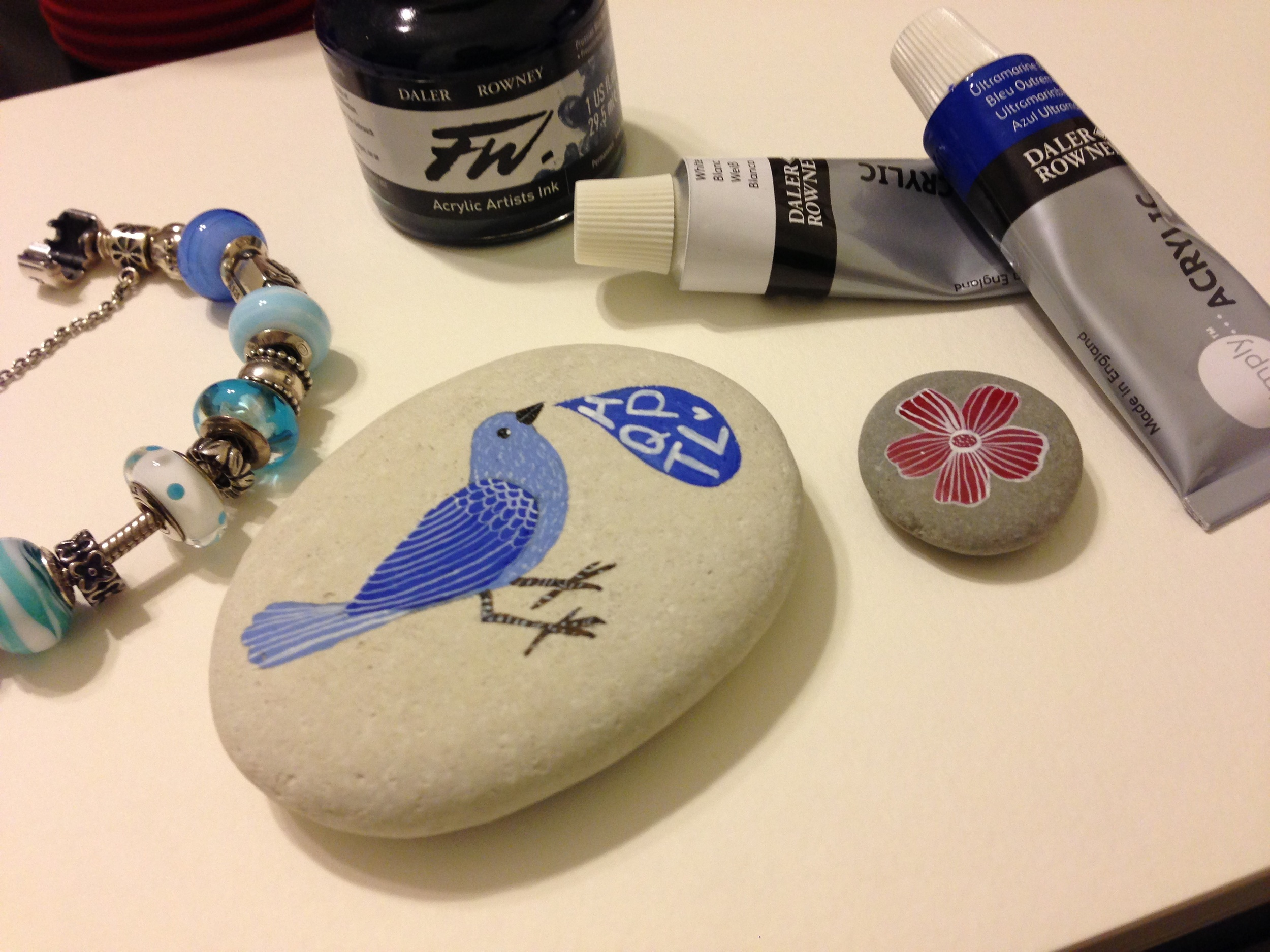 painted pebble
