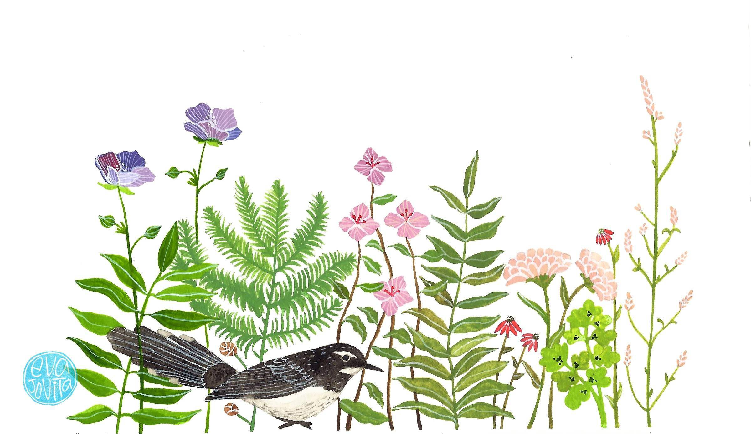 blackbird amidst the flower.jpg