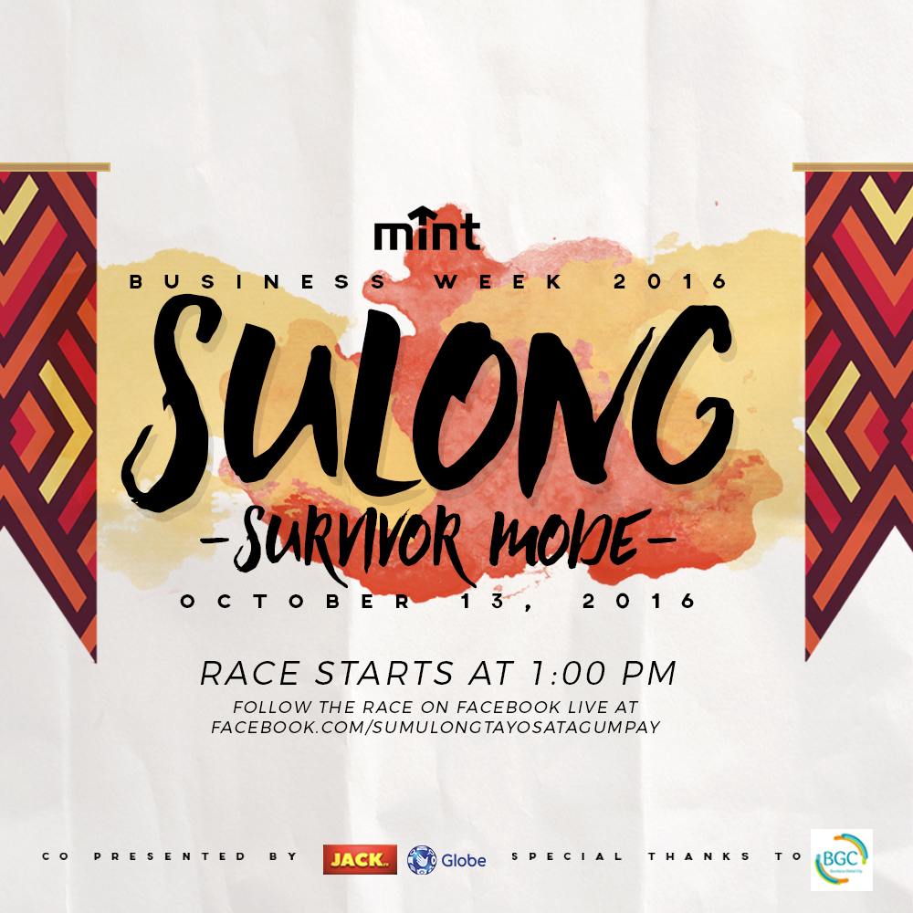 SULONG (Thursday) Kanino sa kanila ang susulong sa tagumpay? Let's find out on Thursday as the race officially starts on Thursday, 1:00 PM! Watch as participants try to win each challenge by tuning in to Facebook live at Sulong's official fan page. Watch out for the details on how to do so by subscribing to the page!  http://facebook.com/SumulongTayoSaTagumpay
