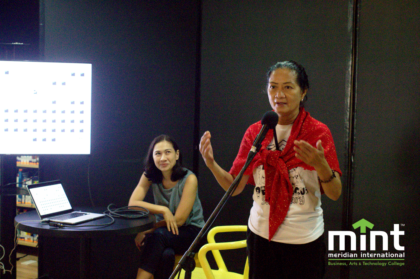 Susan Magallanes Espinosa from MBY Pet Rescue and Sanctuary delivers a talk on Animal Welfare Awareness at MINT College on February 27.