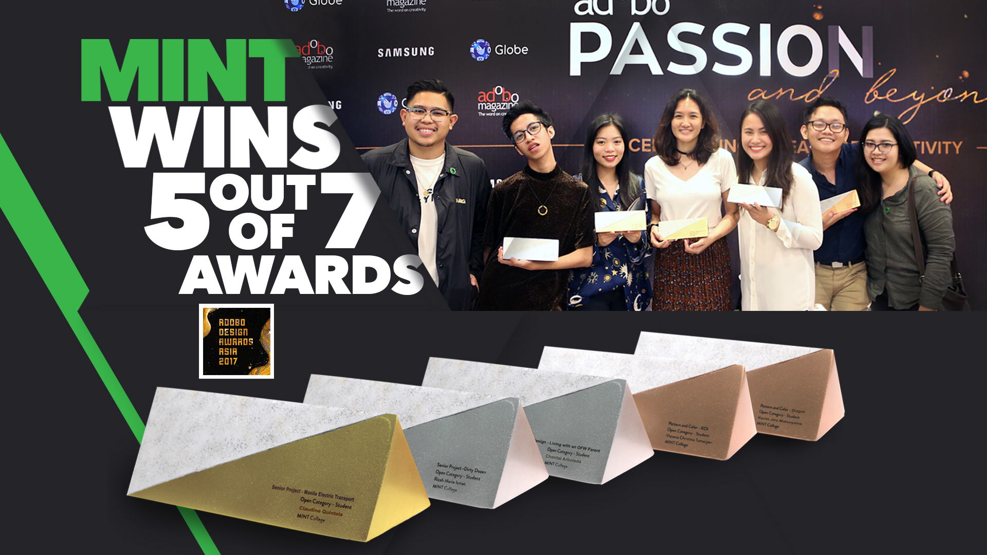 MINT DOMINATES ADOBO DESIGN AWARDS -