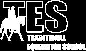 Traditional Equitation School logo white