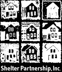 Shelter Partnership logo white