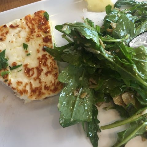 Haloumi with rocket salad.  Enough said!