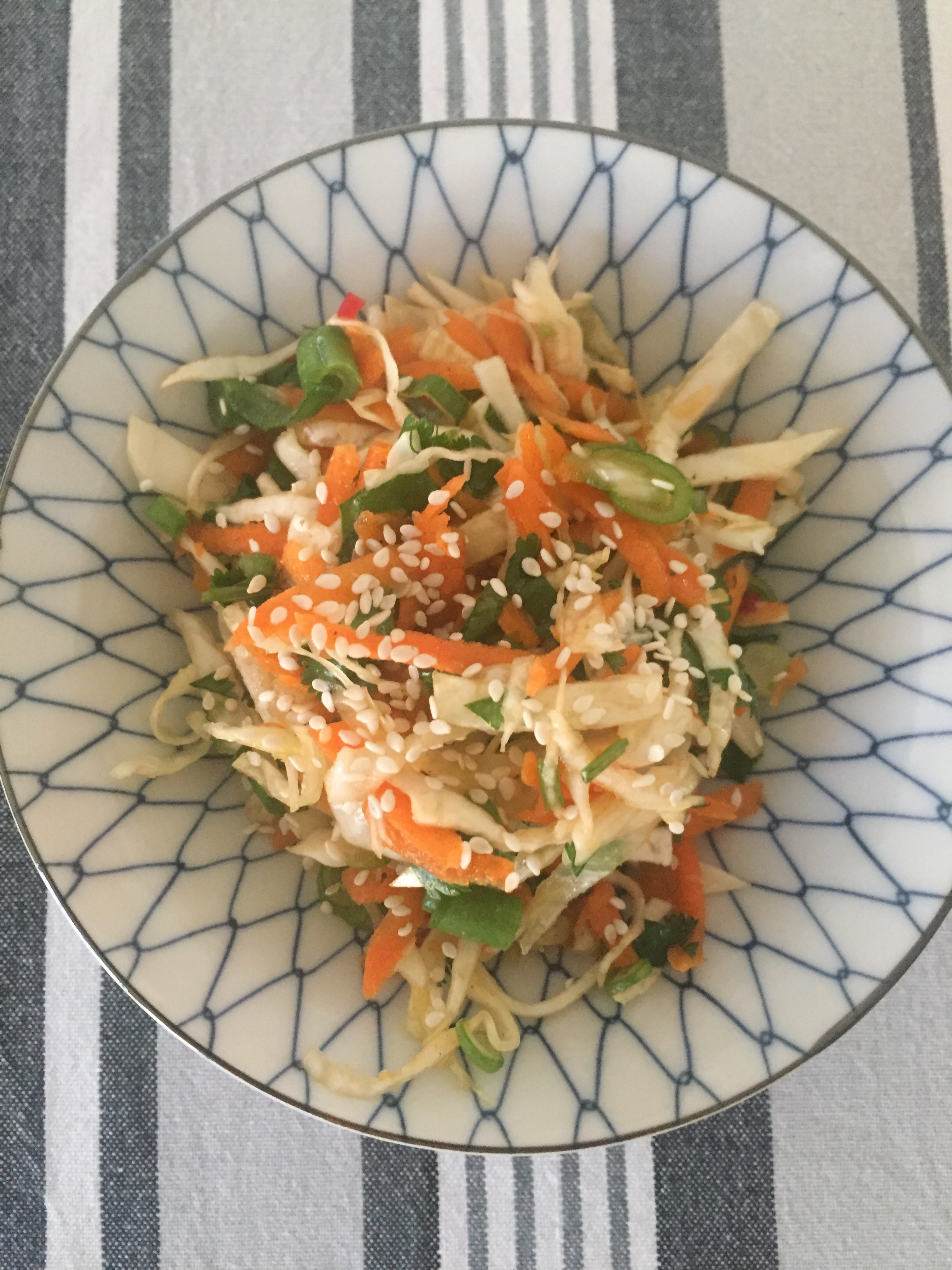 Asian coleslaw for our first official spring BBQ - recipe on the website