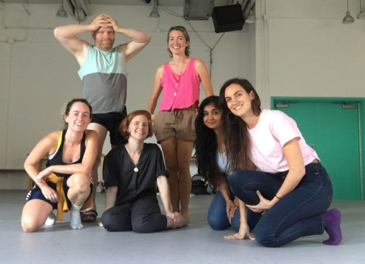 2018-19 Peer Learning Network   Left to Right: Alyssa Martin, Lawrence Shapiro, Dancemakers' Curator Amelia Ehrhardt, PLN Coordinator Molly Johnson, Megha Subramanian, & Marie Lambin-Gagnon (Missing: Rodney Diverlus, Gavin Law, & Christianne Ullmark)