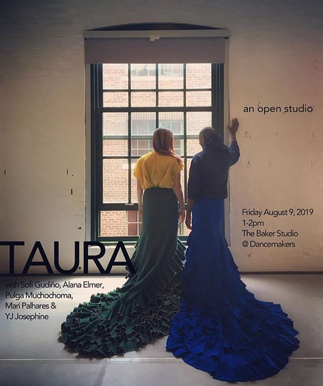 "Emerging artist in residence @inamoratadance is hosting an open studio of her work ""Taura"" here on August 9th! Swing by for a casual, in-process view at this powerful work with Alana Elmer, Pulga Muchochoma, Mari Palhares, and YJ Josephine."