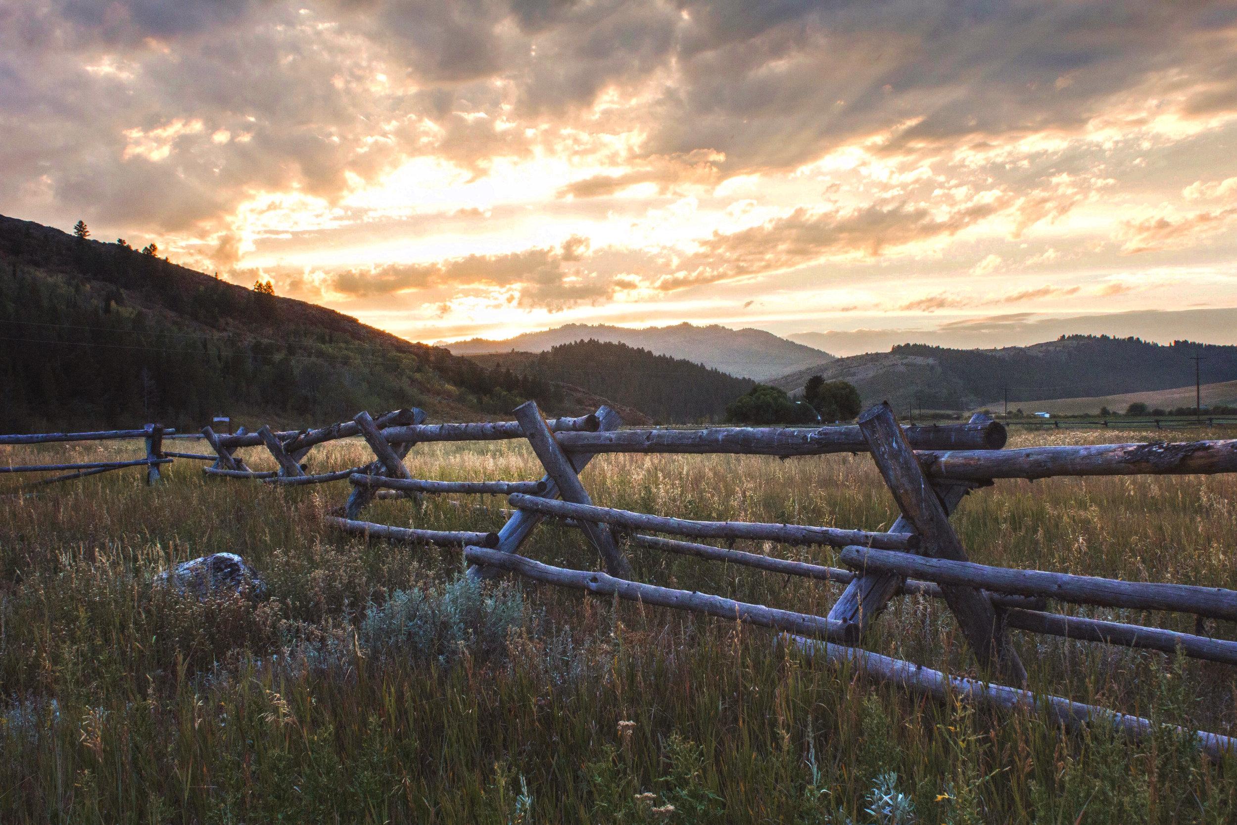 Sunset Outside Jacksonhole, WY