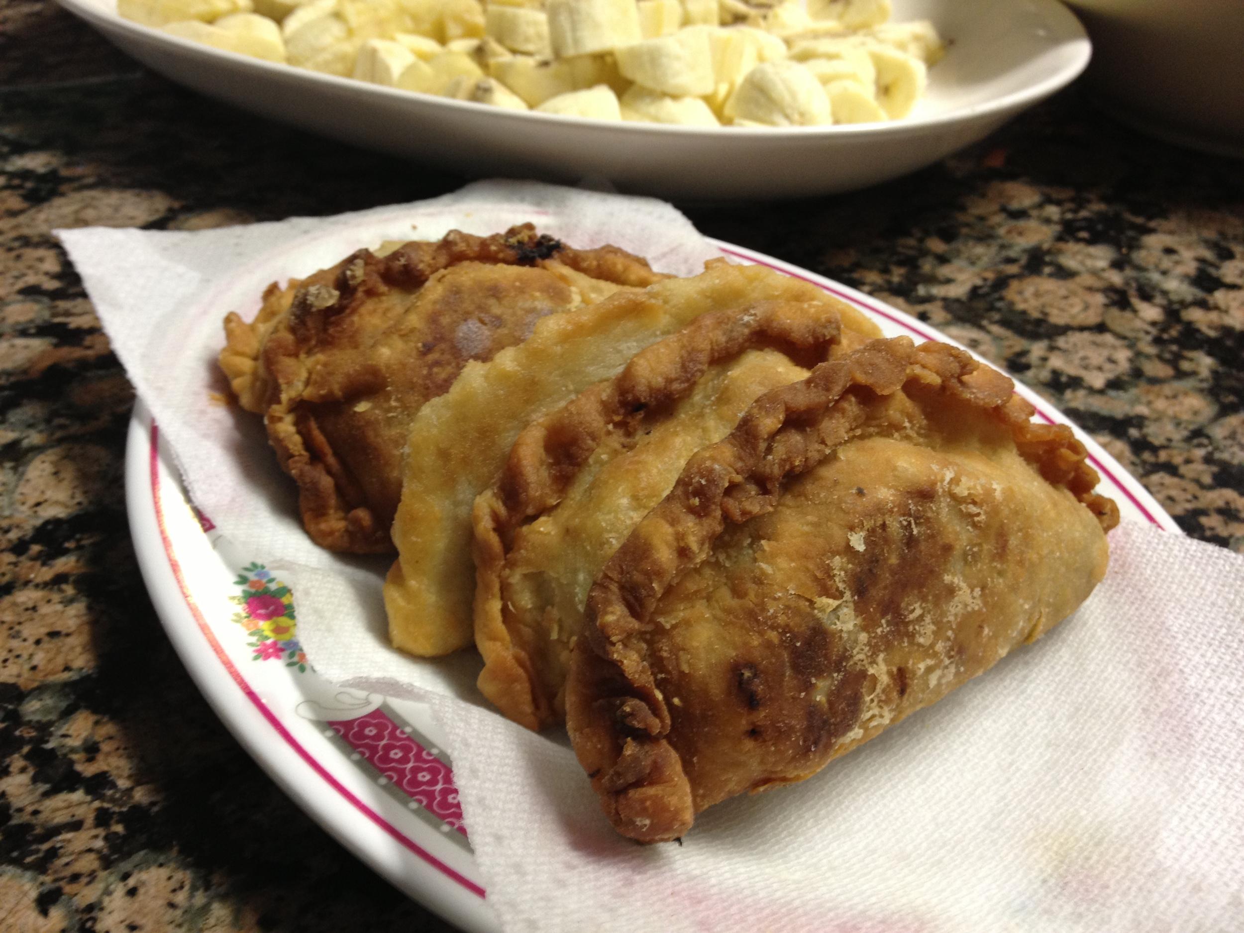 tita elo's famous empanadas, fresh from the pan. yum.