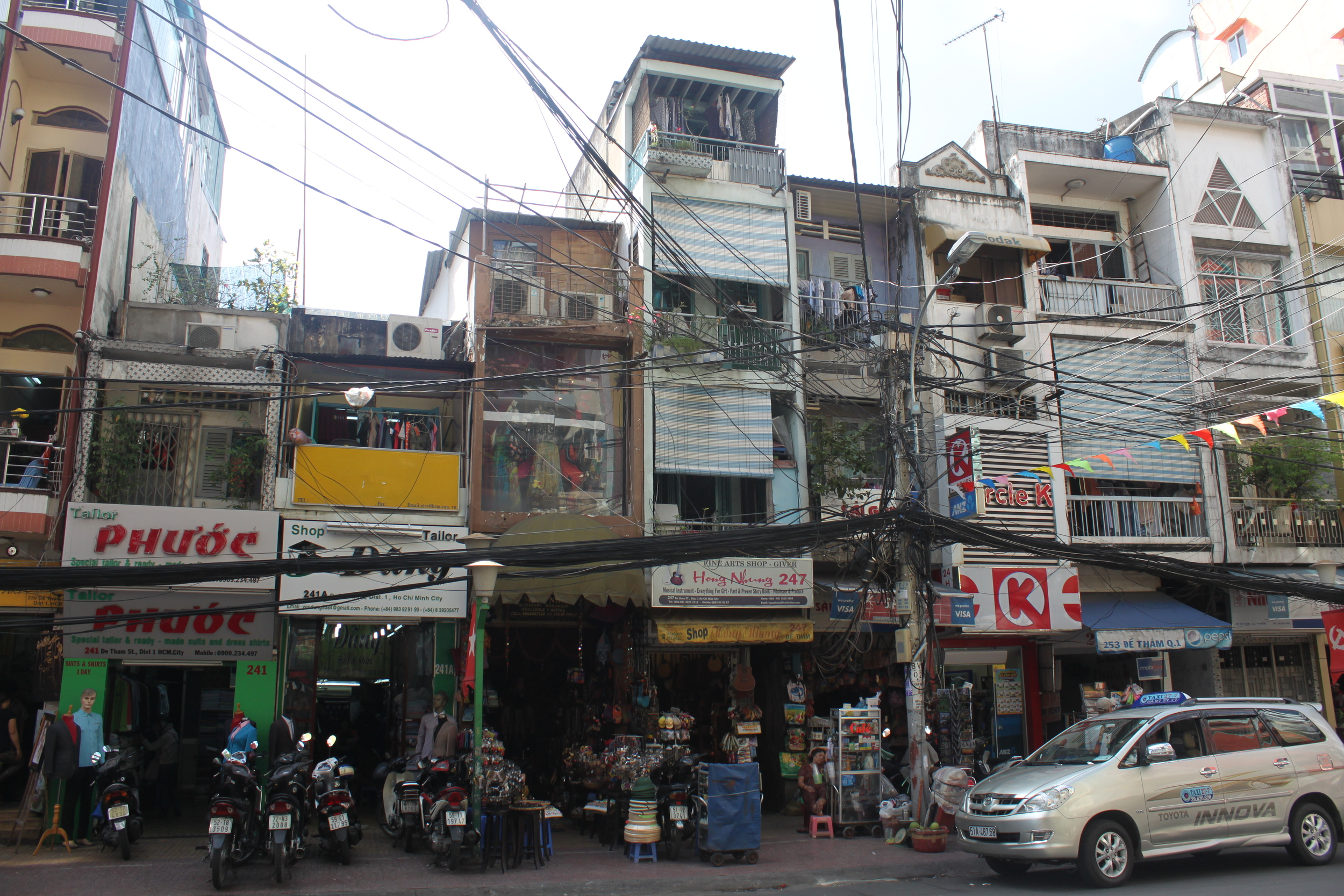 A typical Saigon street.