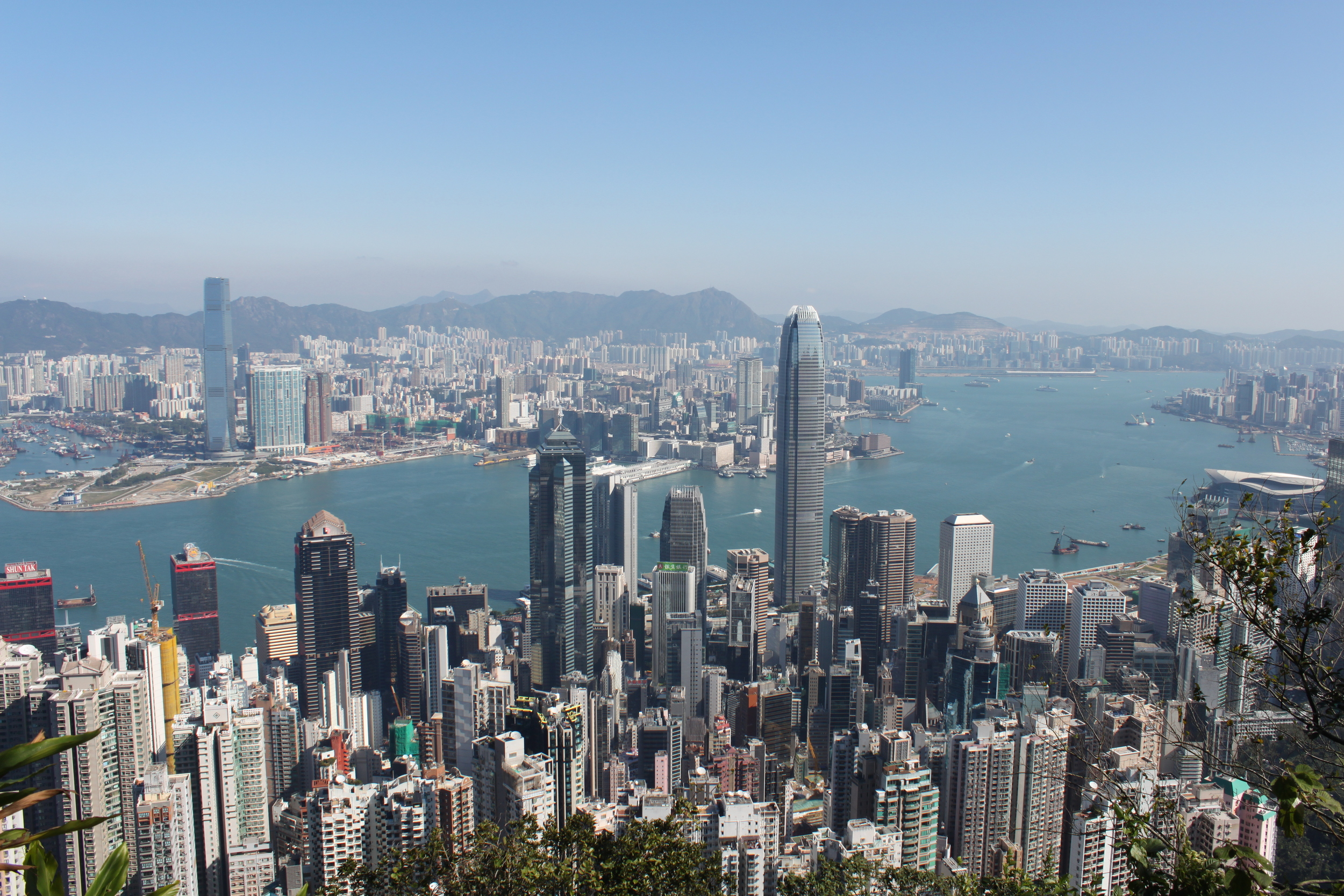 The stunning view from Victoria's Peak.
