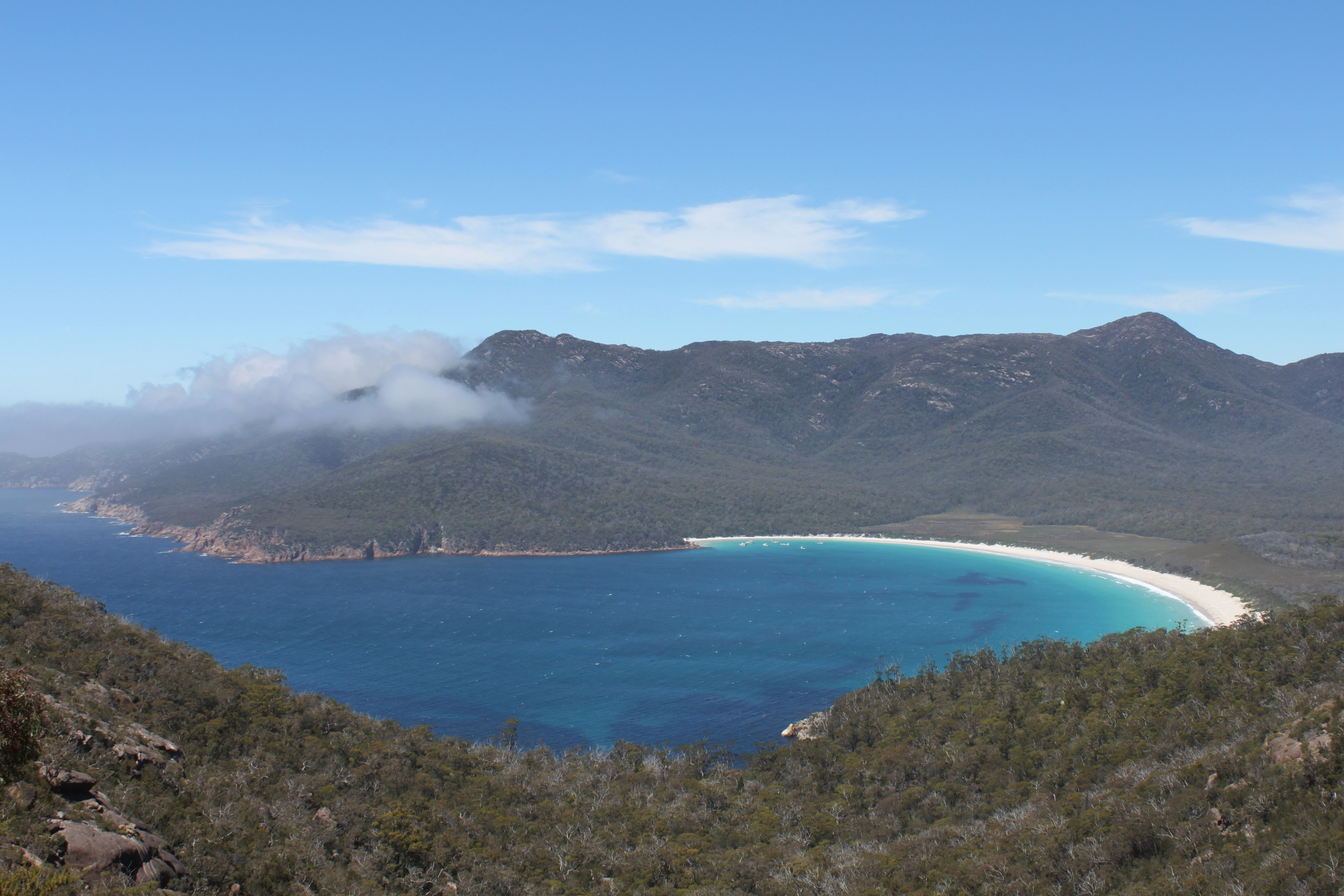 the magnificent wineglass bay.