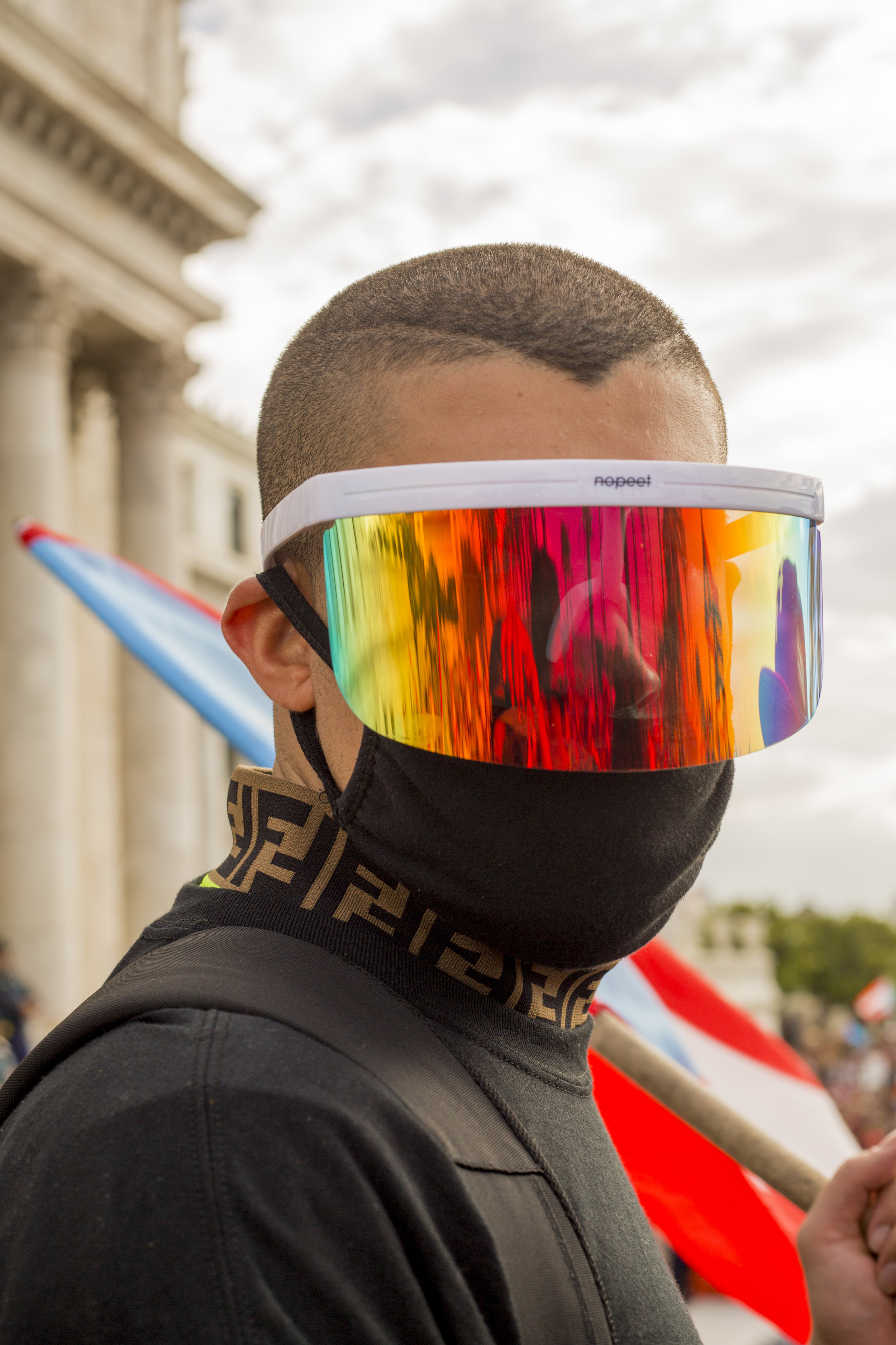 Bad Bunny at the 2019 National Strike in Puerto Rico.