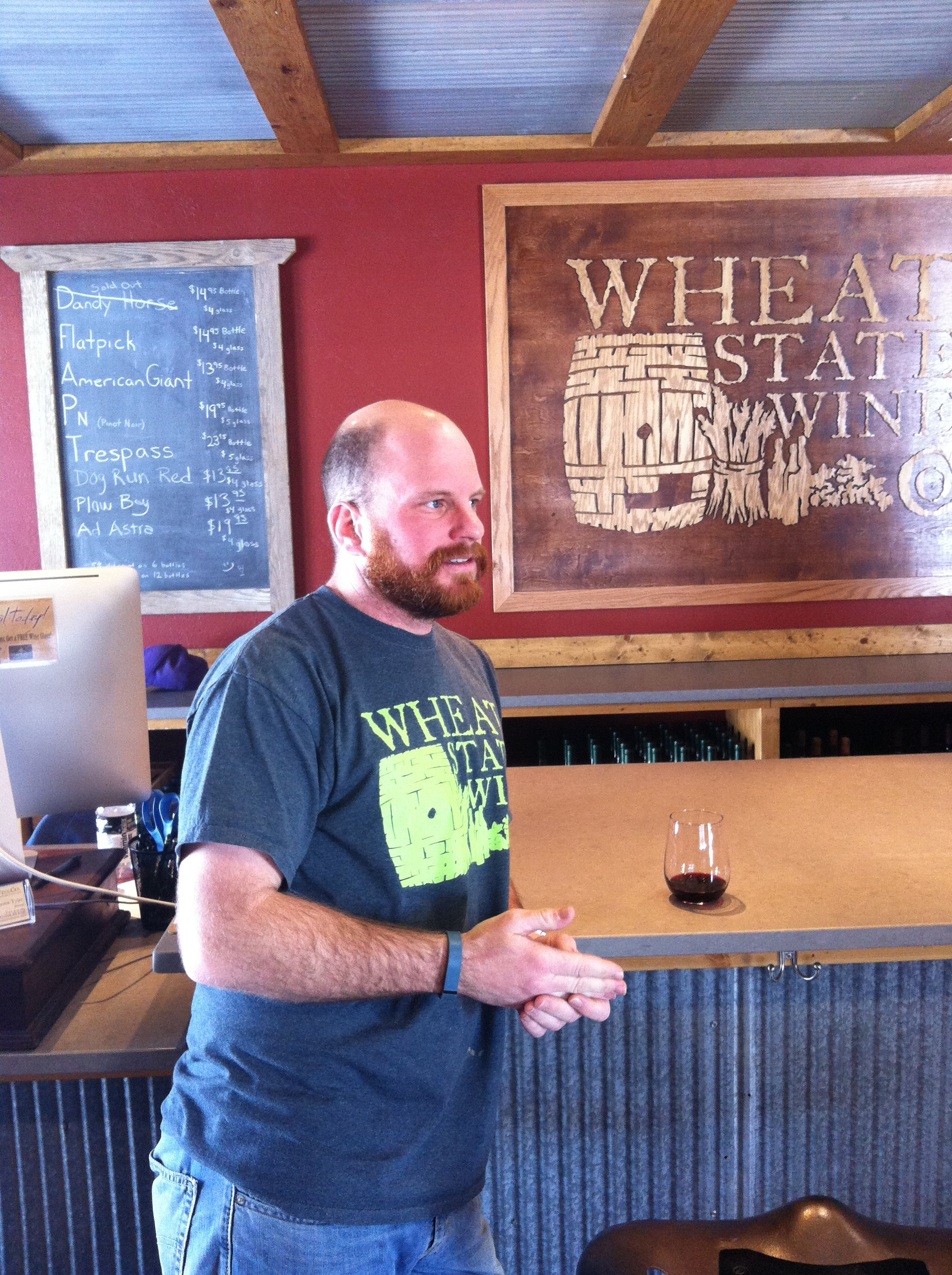 Chris Tyler, Owner Wheat State Wine Co.