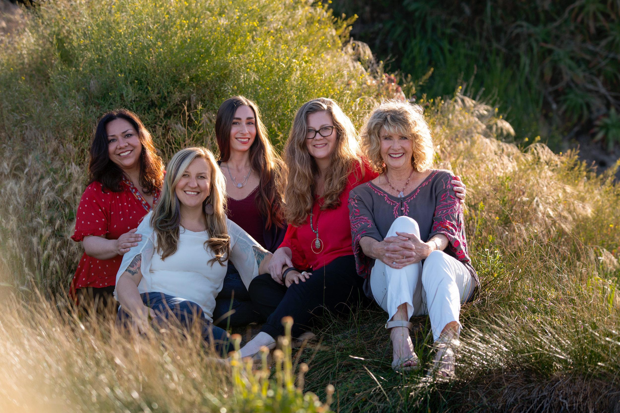 Acubloom - a healing house  Dr. monica Montoya, n.d., Kaye Coleman, ccht, Kass Harp, Dr. kristan roth, DOAM and Sally Barton, BWP, CMT
