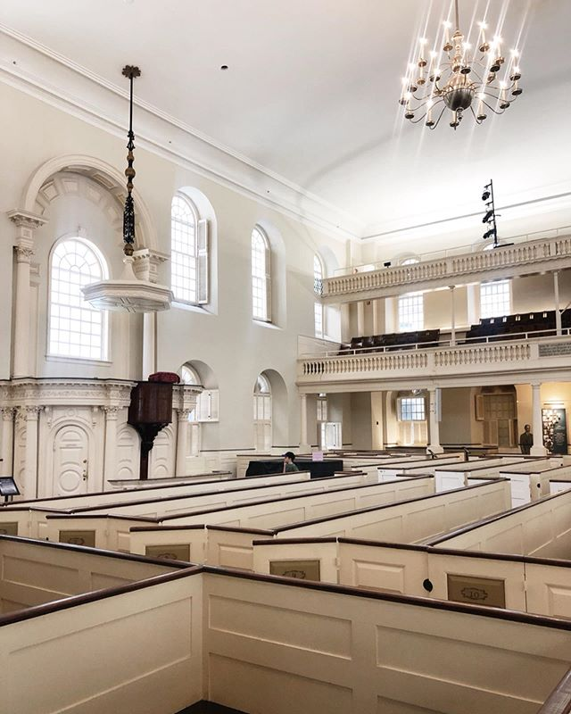 Old South Meeting House, built in 1729, famous for the place where colonists gathered and planned the Boston Tea Party.  #boston