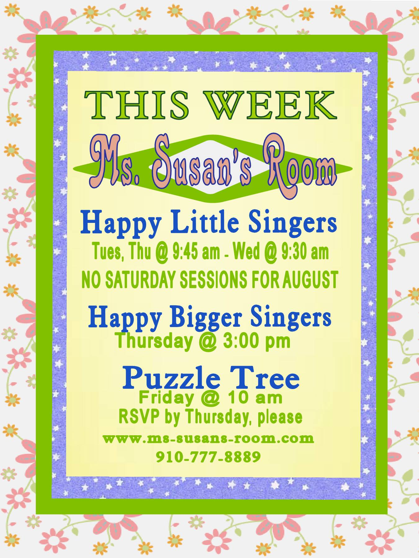 THURSDAY--Happy Bigger Singers