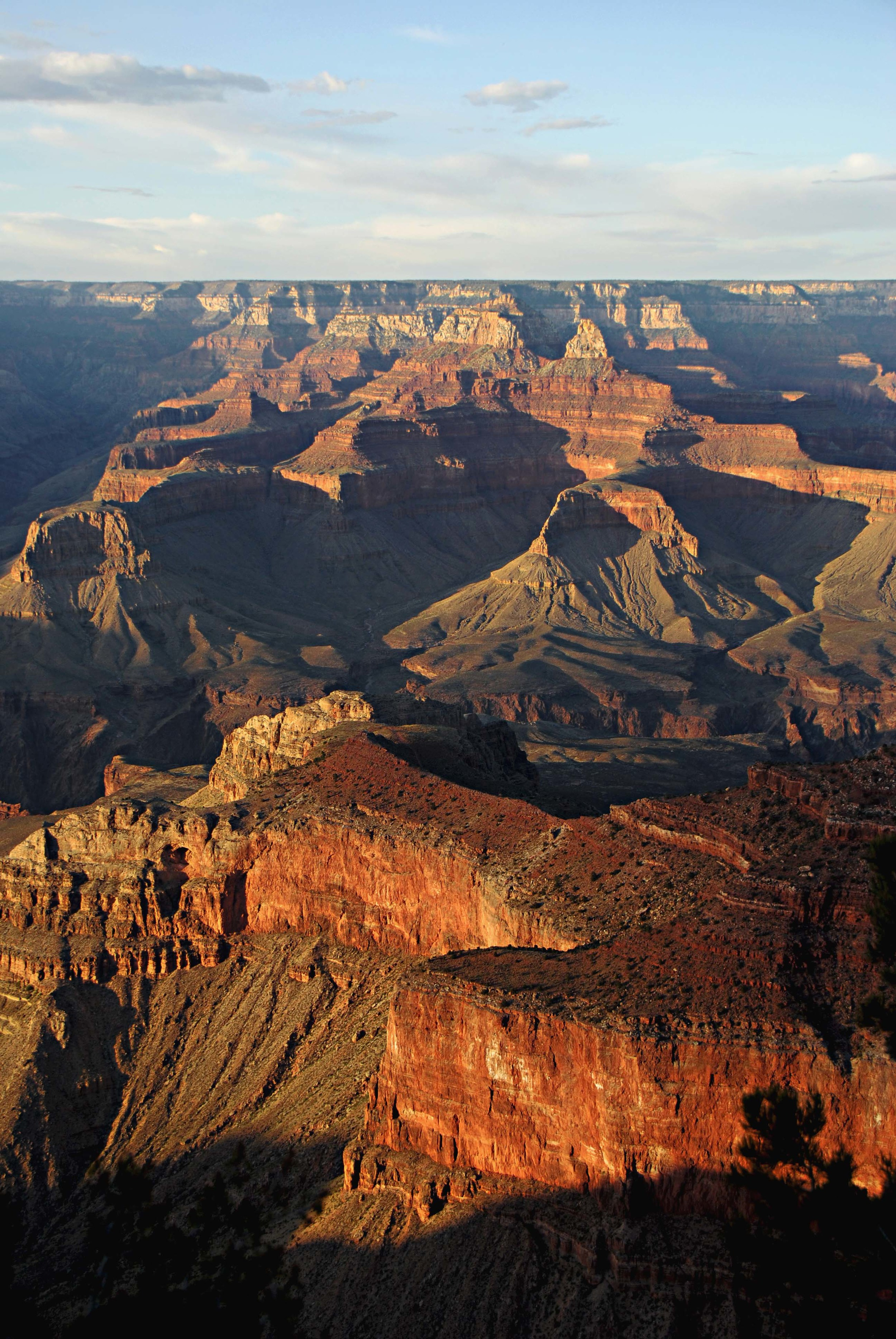 The Grand Canyon and Colorado River at sunset.