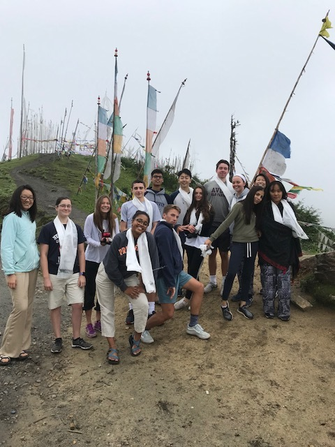 All together at 12,000 ft on our way from Paro to the Haa Valley, Day 1!