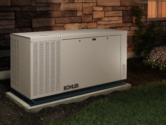 Kohler provides a liquid cooled solution for those looking for more output. Ranging from 24kw to 100kw, these units can power large homes or commercial buildings.