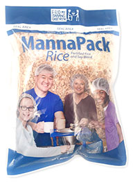 MannaPack Rice, provided by FMSC, is fortified to meet the nutritional needs of the world's starving children
