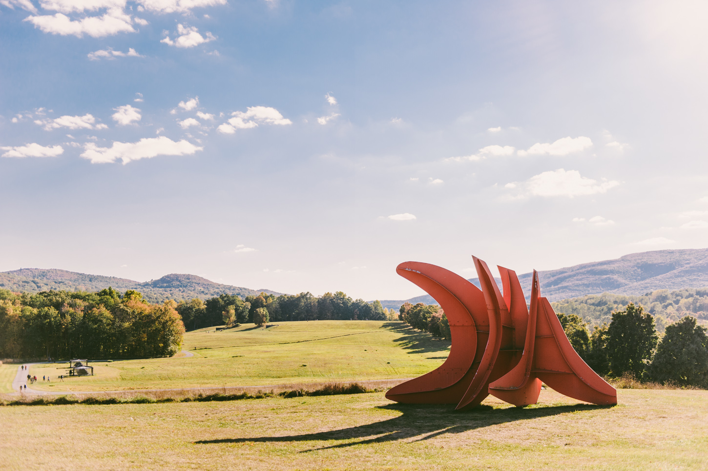 Five Swords  by Alexander Calder and a view of the South fields