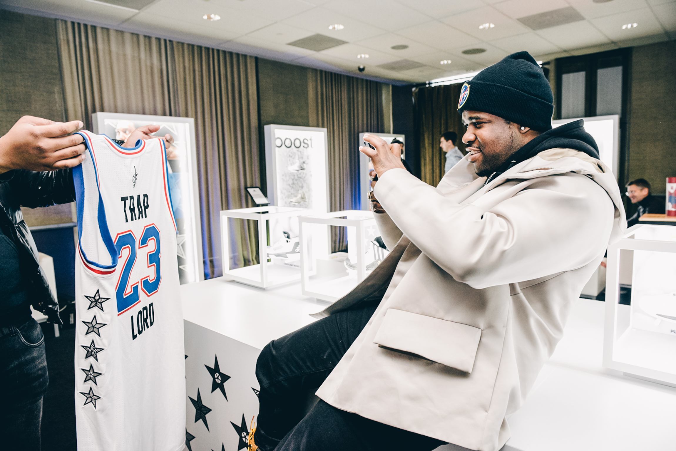 A$AP Ferg and his custom All Star jersey