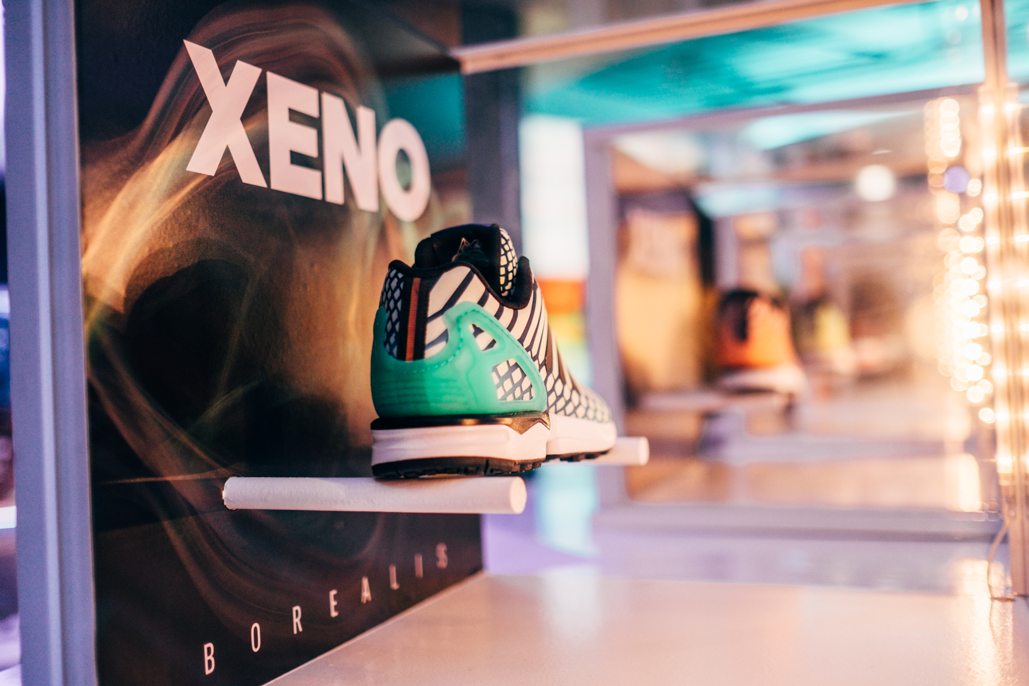 New adidas Xeno Borealis on display at the adidas Vault