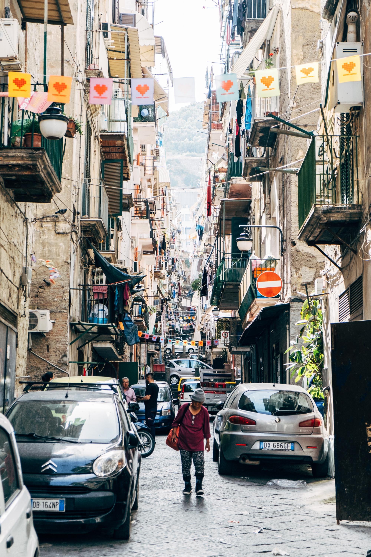The  Quartieri Spagnoli  or Spanish Quarter neighborhood in Naples