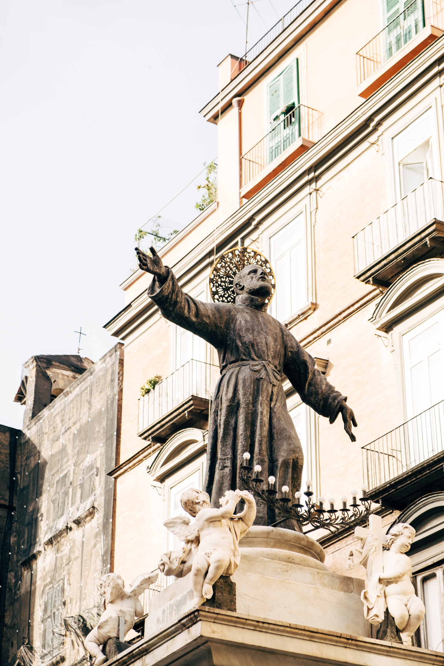 Statue of San Gaetano, one of the patron saints of Naples